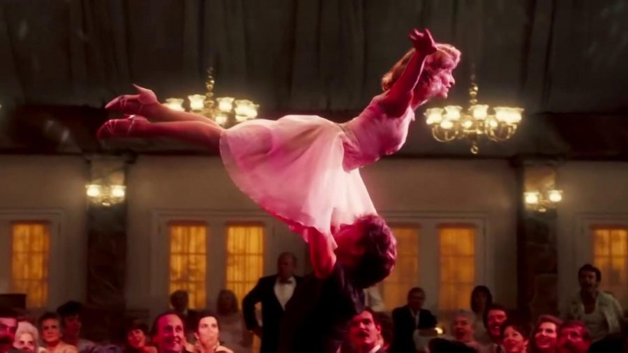 The classic climax of 1987's Dirty Dancing- the iconic lift.