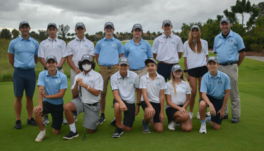The Marco Island Academy golf team